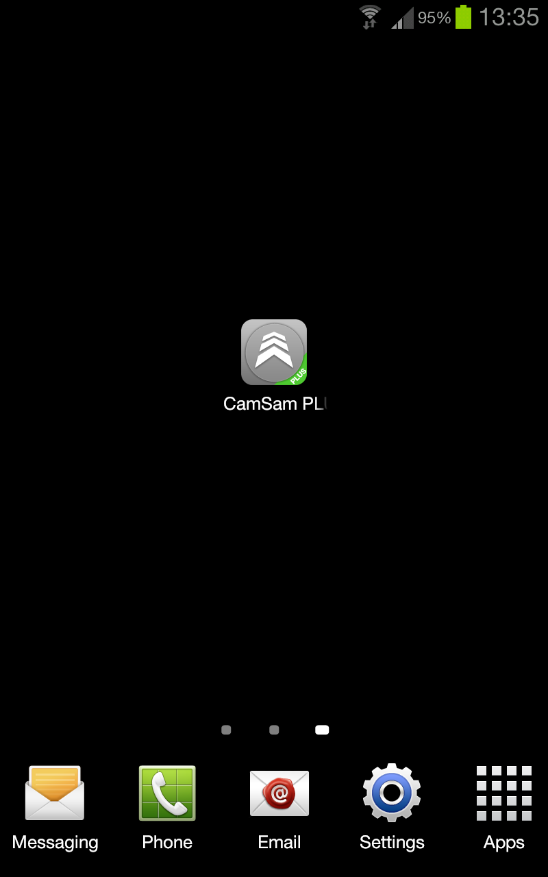 while the app is loading a black screen with an enlarged icon and our logo shows